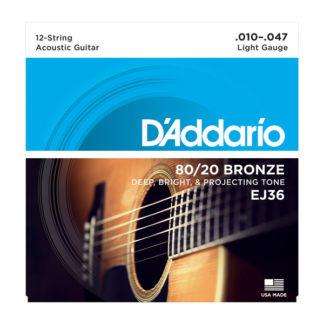 D'Addario EJ36 струны для 12ти струнной гитары